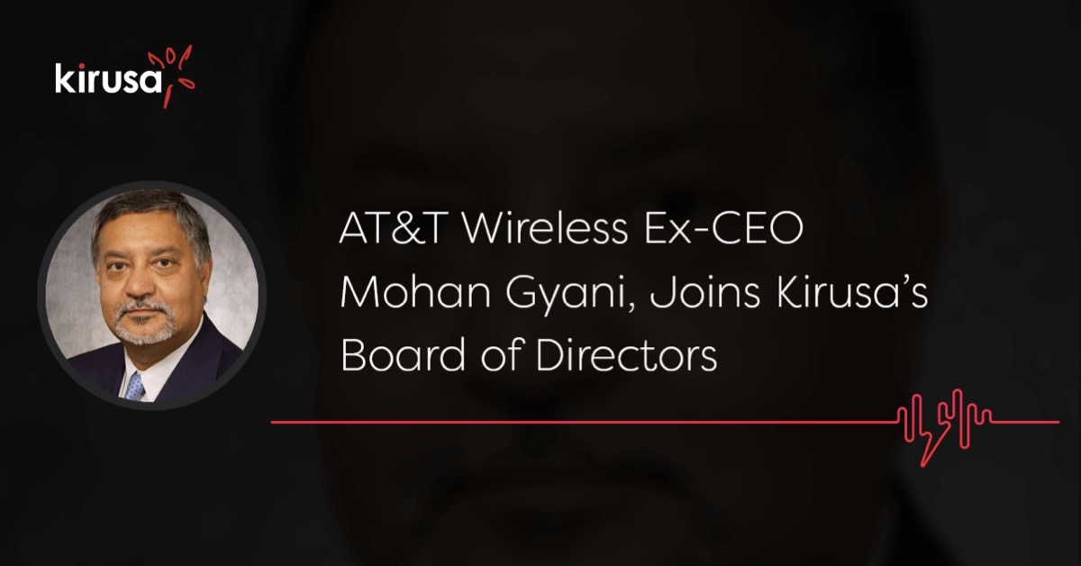 mohan gyani joins kirusa board of directors cover photo