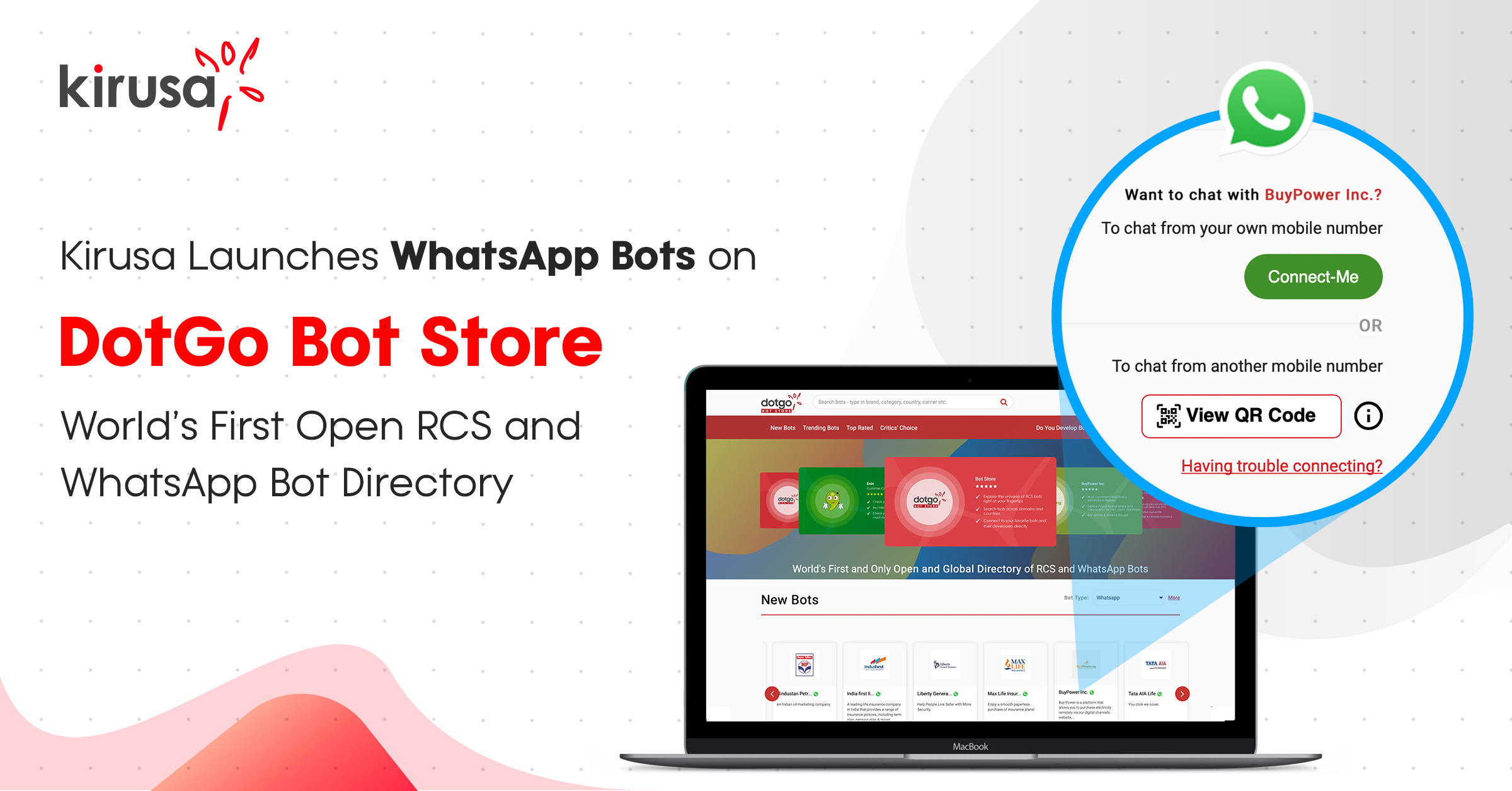 Kirusa Launches Whatsapp Bots On Dotgo Bot Store - World's  First Open Rcs And Whatsapp Bot Directory